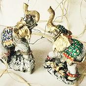 Для дома и интерьера ручной работы. Ярмарка Мастеров - ручная работа Статуэтка Слоник на удачу. Handmade.