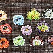 """Вазы ручной работы. Ярмарка Мастеров - ручная работа Брошь из фарфора """"Мак"""" или """" Орхидея"""". Handmade."""