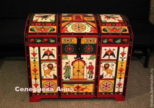 Мебель ручной работы. Ярмарка Мастеров - ручная работа. Купить Большой сундук для приданого в русском стиле. Handmade. Сундук