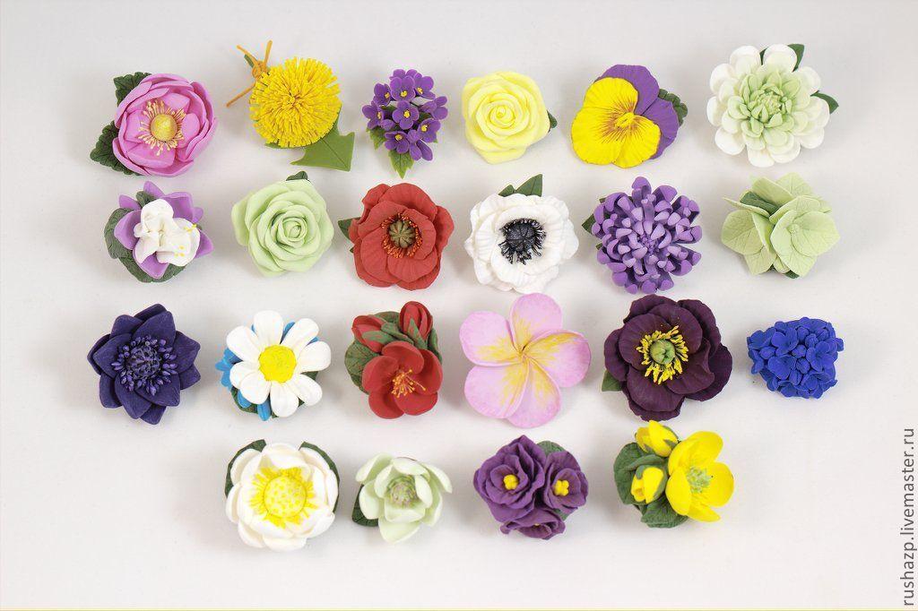 Цветы и украшения из глины 191