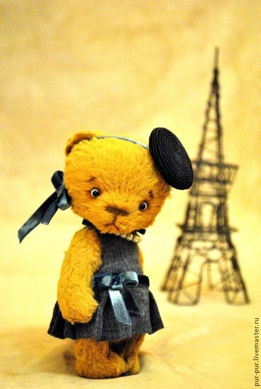 Мишки Тедди ручной работы. Ярмарка Мастеров - ручная работа. Купить Эвва в Париже. Handmade. Желтый, тедди мишка, teddy
