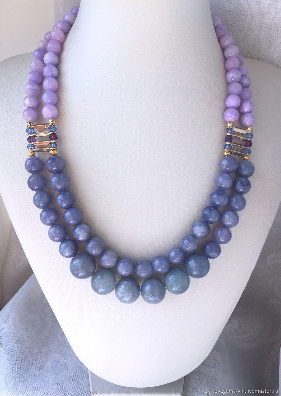 Фото ожерелий из натуральных камней