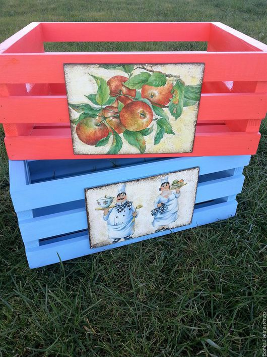 Корзины, коробы ручной работы. Ярмарка Мастеров - ручная работа. Купить Деревянный реечный ящик. Handmade. Белый, ящик для хранения