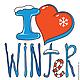 """Кофты и свитера ручной работы. Ярмарка Мастеров - ручная работа. Купить Толстовка """"Я люблю зиму"""" женская с капюшоном. Handmade."""