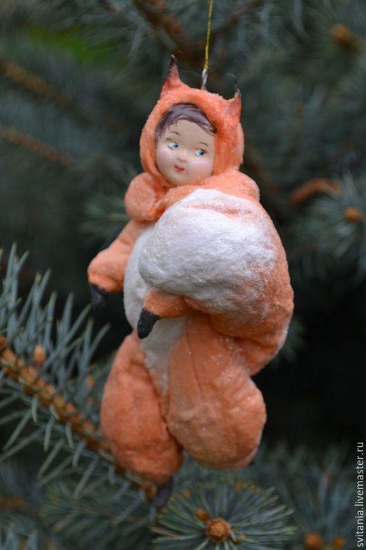 Ватная елочная игрушка. Игрушка из ваты. Ватное папье-маше. Ватные игрушки Свиткиной Татьяны. Елочная игрушка. Елочное украшение. Новогодний декор. Авторская елочная игрушка. Игрушка новогодняя.