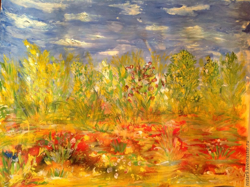 Landscapes handmade. Livemaster - handmade. Buy the colors of autumn.Gift girl, housewarming gift, picture for girls
