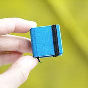 Канцелярские товары ручной работы. Ярмарка Мастеров - ручная работа Крошечный блокнотик ярко-голубого цвета. Handmade.