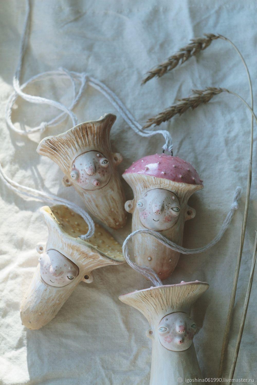 Статуэтка фигурка мухомор гриб керамический подвесной, Статуэтки, Кемерово,  Фото №1