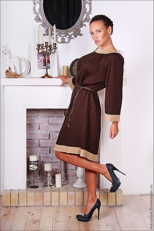 """Платье """" Шоколадное плиссе"""", Платья, Санкт-Петербург,  Фото №1"""