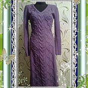 Одежда ручной работы. Ярмарка Мастеров - ручная работа Вязаное зимнее платье. Handmade.