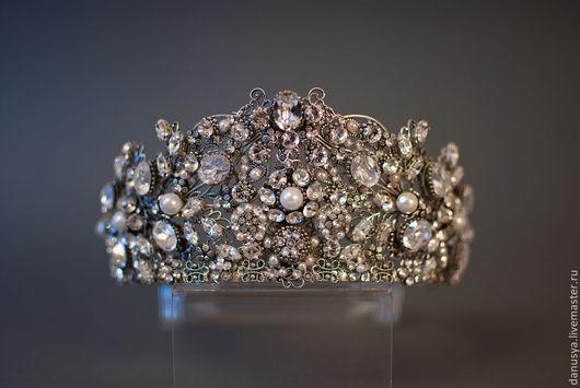 """Диадемы, обручи ручной работы. Ярмарка Мастеров - ручная работа. Купить Свадебная корона """"Версаль"""". Handmade. Серебряный, диадема невесты"""