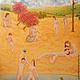 Люди, ручной работы. Ярмарка Мастеров - ручная работа. Купить Берег. Handmade. Разноцветный, пляж, Адам и Ева, ню