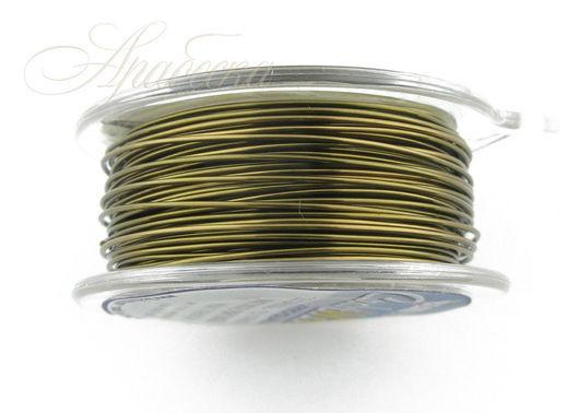 Проволока медная цвета античной бронзы 0.64мм США 13.72м/уп