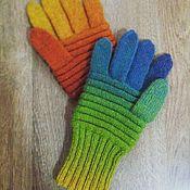 Аксессуары handmade. Livemaster - original item Rainbow Gloves. Handmade.