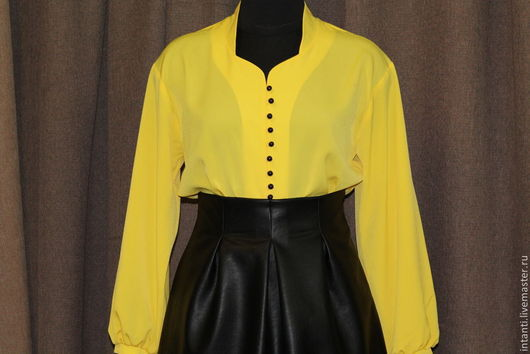 Блузки ручной работы. Ярмарка Мастеров - ручная работа. Купить Блузка. Handmade. Желтый, блуза