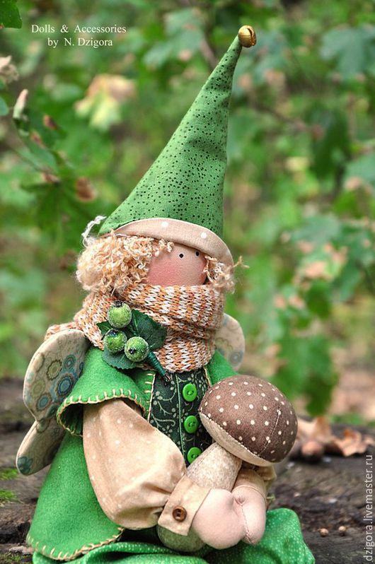Сказочные персонажи ручной работы. Ярмарка Мастеров - ручная работа. Купить Лесной фей. Handmade. Феи, волшебник, лесной, грибочки