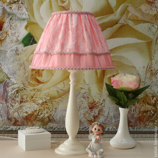 """Освещение ручной работы. Ярмарка Мастеров - ручная работа. Купить Настольная лампа """"Барберри"""" + шкатулка """"Барберри"""" в подарок. Handmade."""