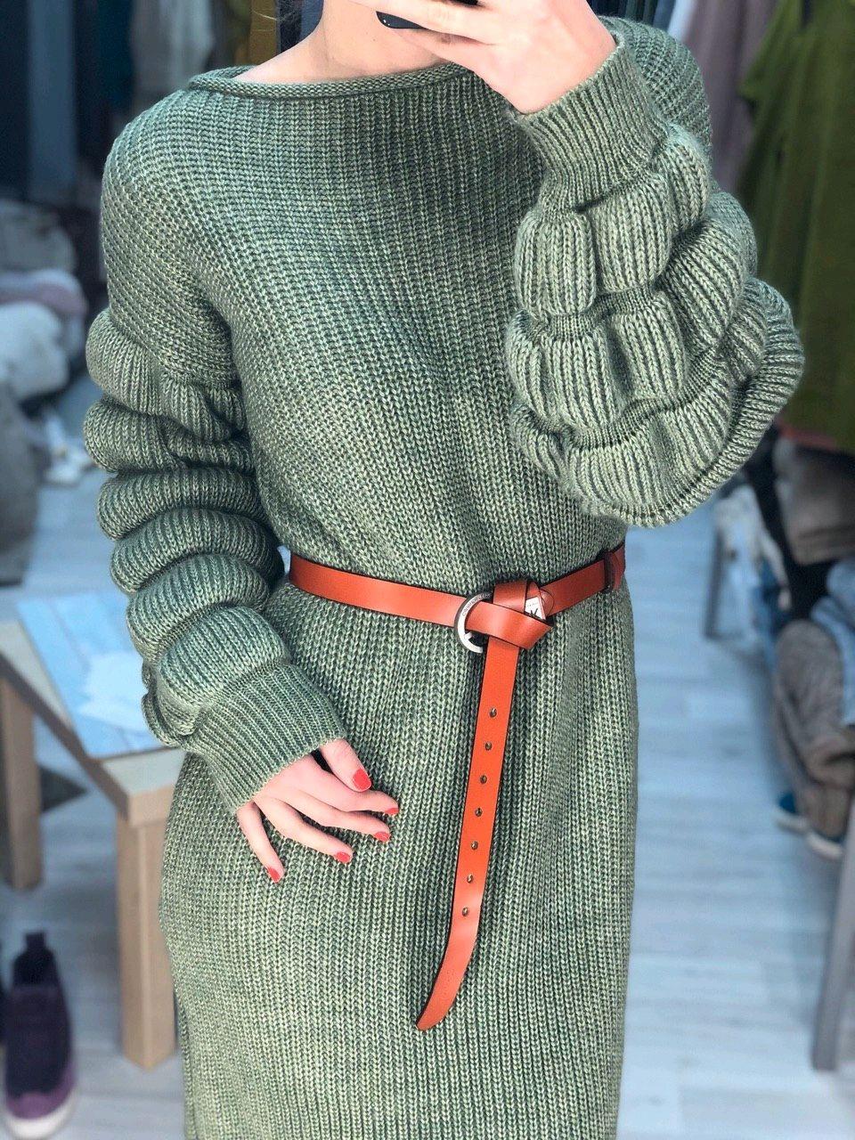 Вязаное платье с объемными рукавами NATA, Платья, Казань,  Фото №1