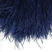 Материалы для творчества handmade. Livemaster - original item Trim of ostrich feathers 10-15 cm dark blue. Handmade.