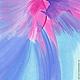 Абстракция ручной работы. Ярмарка Мастеров - ручная работа. Купить Картина маслом Птица Счастья!, голубой розовый сиреневый мечта. Handmade.