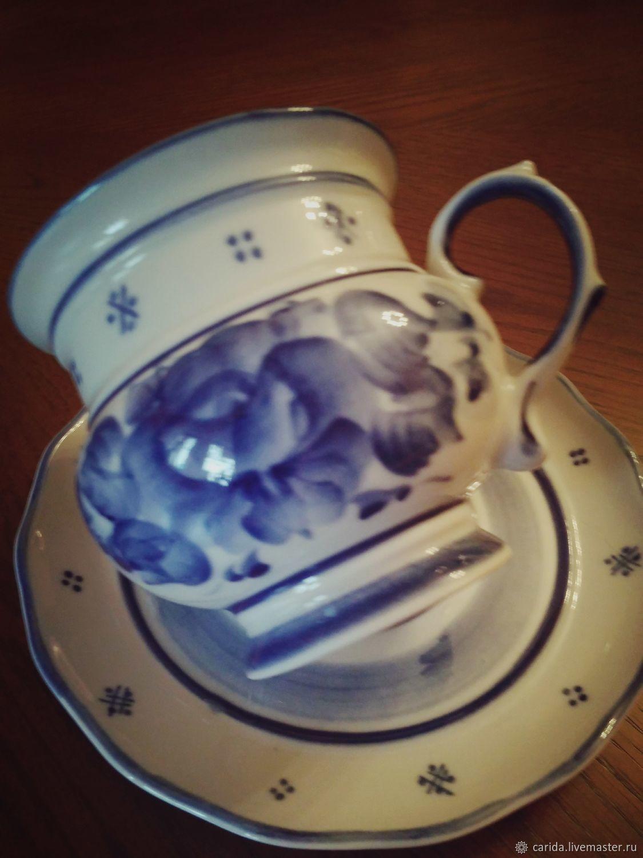 Чайная пара - гжель. Ручная авторская работа, Кружки, Москва, Фото №1