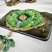 Для дома и интерьера handmade. Livemaster - original item Eco-Housekeeper with moss with 4 hooks. Handmade.
