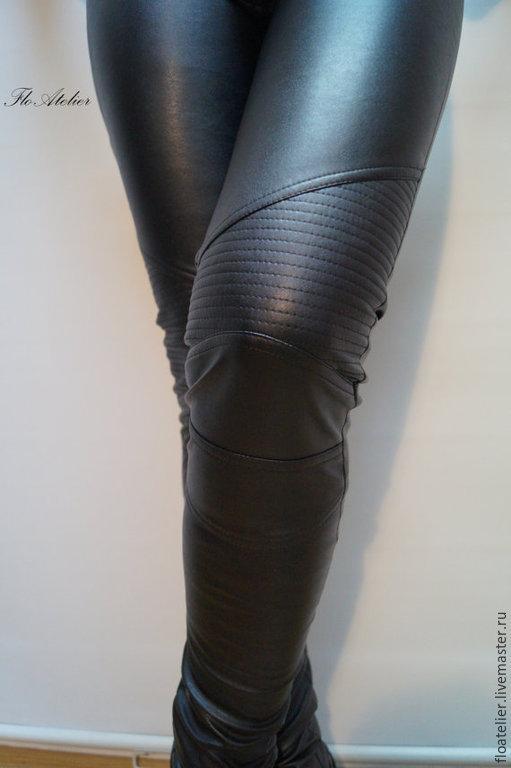 8163557616df Брюки, шорты ручной работы. Ярмарка Мастеров - ручная работа. Купить  Женские кожаные штаны ...