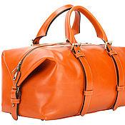 Сумки и аксессуары handmade. Livemaster - original item Leather travel-bag Washington (orange). Handmade.