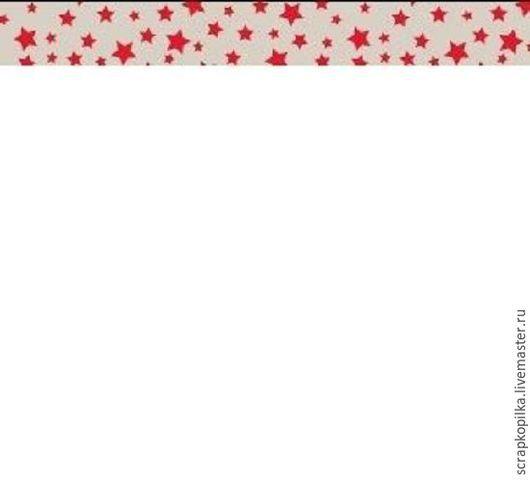 Открытки и скрапбукинг ручной работы. Ярмарка Мастеров - ручная работа. Купить Бумажный скотч с принтом. Старый цирк. Звёздочки 15мм х 8м. Handmade.