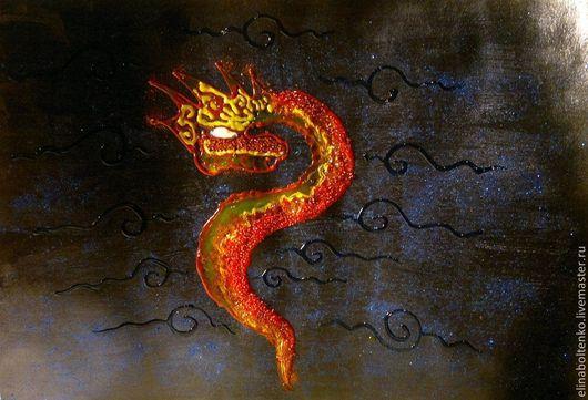 дракон в космосе, художница Элина Болтенко