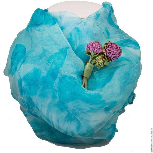 Брошь-цветок из натуральной кожи. Автор: Анна Пархоменко