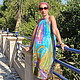 Dresses handmade. Livemaster - handmade. Buy crochet dress 'eden' batik.Batik, dragonfly, atlas, beach fashion