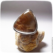 Rings handmade. Livemaster - original item Ring Sand with dendroica. Handmade.