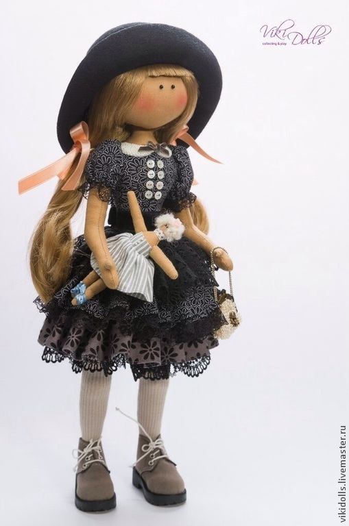 Коллекционные куклы ручной работы. Ярмарка Мастеров - ручная работа. Купить Кукла-Тильда Черный Лебедь. Handmade. Темно-серый