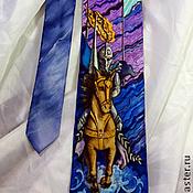 """Аксессуары ручной работы. Ярмарка Мастеров - ручная работа Галстук мужской шелковый """"Зимний рыцарь"""". Handmade."""