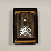 Сувениры и подарки handmade. Livemaster - original item Zippo lighter with wenge case and with Inc pearl Knight. Handmade.