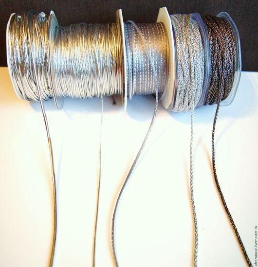шнуры Серебристые  для упаковки и декора