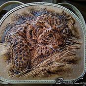 Сумки и аксессуары ручной работы. Ярмарка Мастеров - ручная работа Кожаный женский рюкзак  Леопард. Handmade.