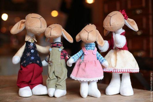 Игрушки животные, ручной работы. Ярмарка Мастеров - ручная работа. Купить Семейка овечек. Handmade. Овечка, 2015 год, барашек