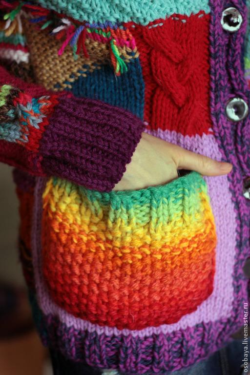 Кофты и свитера ручной работы. Ярмарка Мастеров - ручная работа. Купить кофтовая вариация на тему полурукавки. Handmade. Вязайн