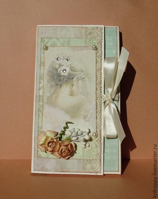 """Открытки для женщин, ручной работы. Ярмарка Мастеров - ручная работа. Купить Шоколадница """"Таинственная незнакомка"""". Handmade. Бежевый, открытка для женщины"""