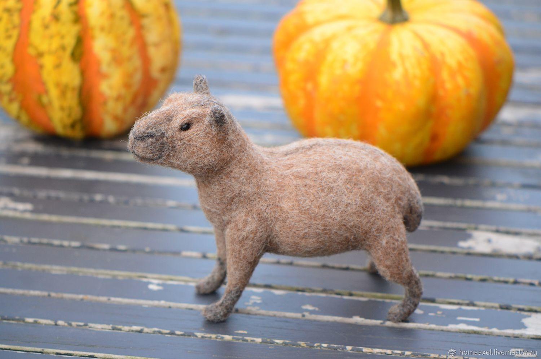 Felt toy Capybara, Felted Toy, Heidelberg,  Фото №1