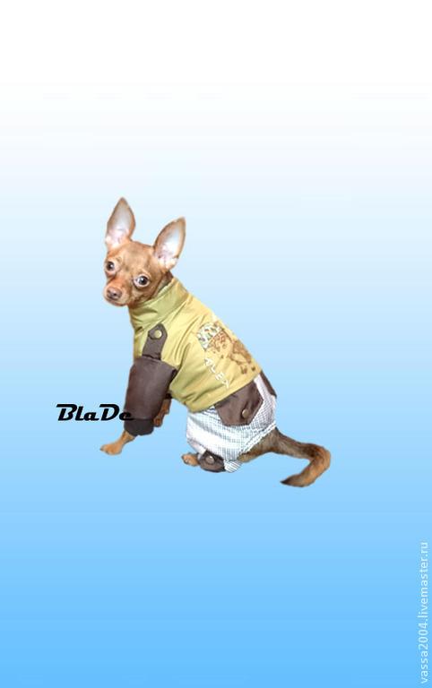 """Одежда для собак, ручной работы. Ярмарка Мастеров - ручная работа. Купить Дождевик """" Милитари 2 """". Handmade. Коричневый"""