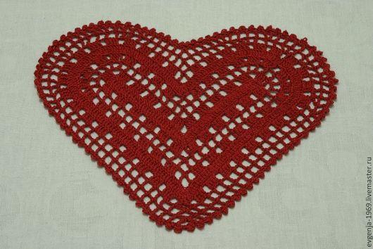 Подарки для влюбленных ручной работы. Ярмарка Мастеров - ручная работа. Купить Салфетка в форме сердца. Handmade. Салфетка