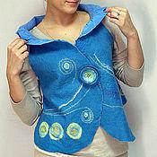 """Одежда ручной работы. Ярмарка Мастеров - ручная работа Жилет  """"Глаз луны"""" войлочный. Handmade."""
