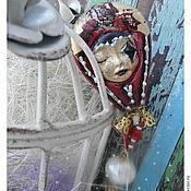 """Украшения ручной работы. Ярмарка Мастеров - ручная работа Воздушный шар """"Circus"""" - Брошь. Handmade."""