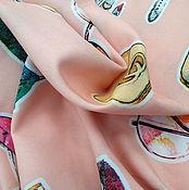 Материалы для творчества ручной работы. Ярмарка Мастеров - ручная работа Ткань плательная вискоза со спандексом. Handmade.