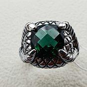 Украшения handmade. Livemaster - original item Silver ring with chrome oxide 10h10 mm. Handmade.
