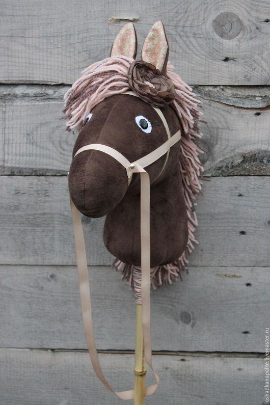 Игрушки животные, ручной работы. Ярмарка Мастеров - ручная работа. Купить Лошадка на палке. Handmade. Розовый, игрушка в подарок, лошадка
