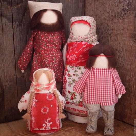 """Народные куклы ручной работы. Ярмарка Мастеров - ручная работа. Купить Народные куколки обрвз семьи """"Радостные"""". Handmade. Комбинированный"""